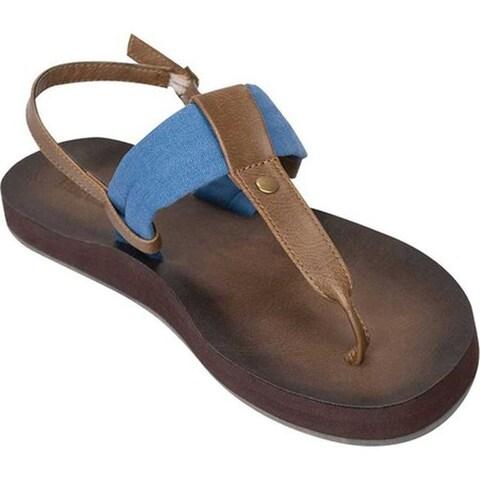 Tidewater Sandals Women's Montauk Thong Sandal Blue