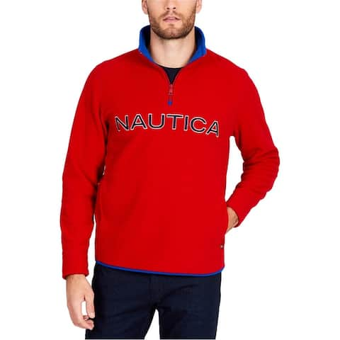 Nautica Mens Logo Half Zip Sweatshirt
