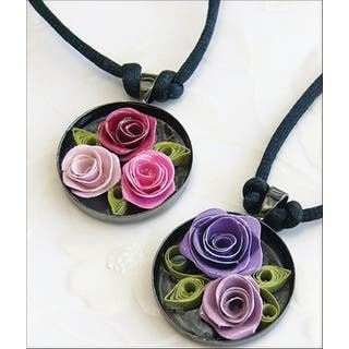Quilling Kit-Romantic Roses Necklace|https://ak1.ostkcdn.com/images/products/is/images/direct/58809b65a7f0576e91748900ec29d35e4031f15b/Quilling-Kit-Romantic-Roses-Necklace.jpg?impolicy=medium