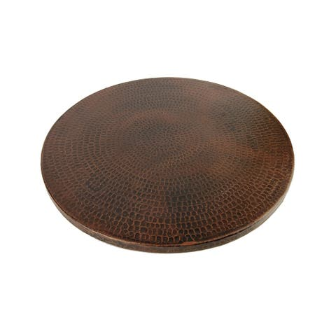 Premier Copper Products LS18DB 18-inch Hammered Copper Lazy Susan