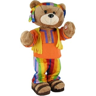 Applause Dance Party Animals Musical Plush 60s Boy Bear