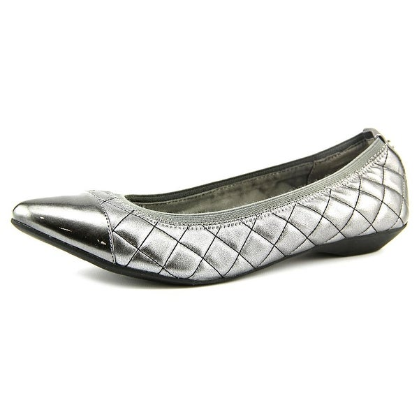 Anne Klein Sport Offered Women  Pointed Toe Synthetic Silver Flats