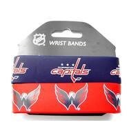 Washington Capitals Rubber Wrist Band (Set of 2) NHL