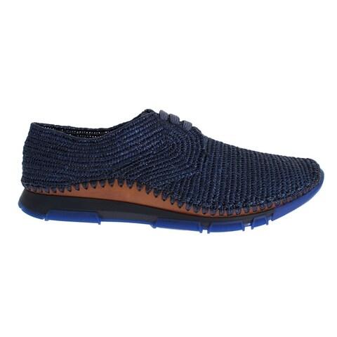 Dolce & Gabbana Sneaker Shoes Blue Raffia Mens Sport Casual - 44