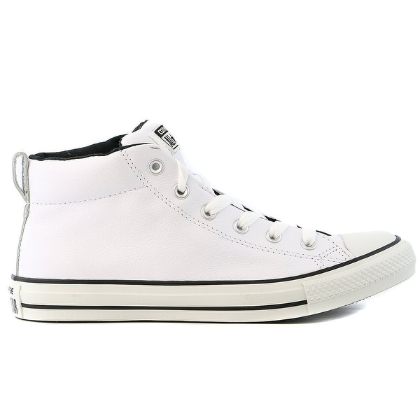 752f1d40467 Shop Converse Mens Chuck Taylor All Star Street Mid Top Shoe White ...