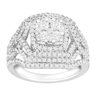 1 1/2 ct Diamond Cocktail Ring in 14K Gold