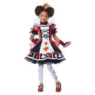 Girls Deluxe Queen of Hearts Halloween Costume