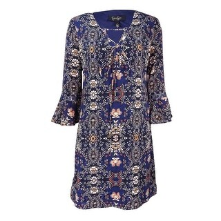 Jessica Simpson Women's Printed Peasant Dress - Print