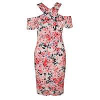 Rachel Rachel Roy Pnik Multi Cold-Shoulder Floral Lace Sheath Dress  0