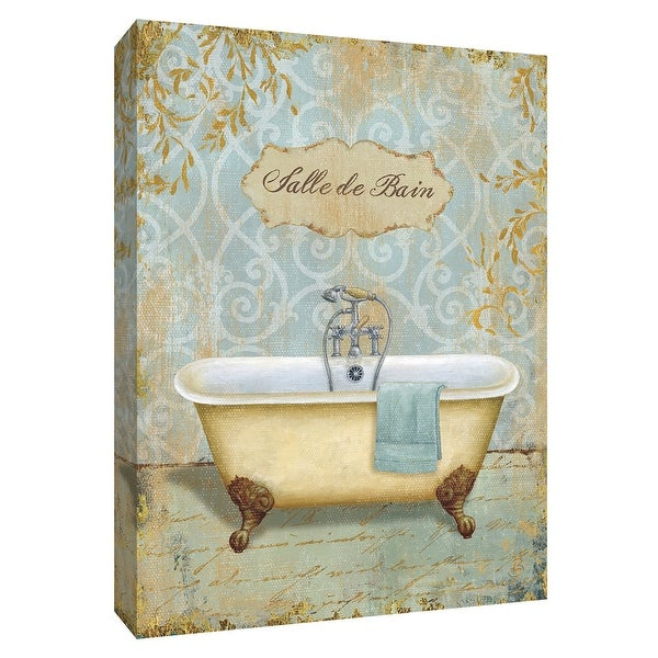 """PTM Images 9-154819 PTM Canvas Collection 10"""" x 8"""" - """"Salle de Bain I"""" Giclee Tubs Art Print on Canvas"""