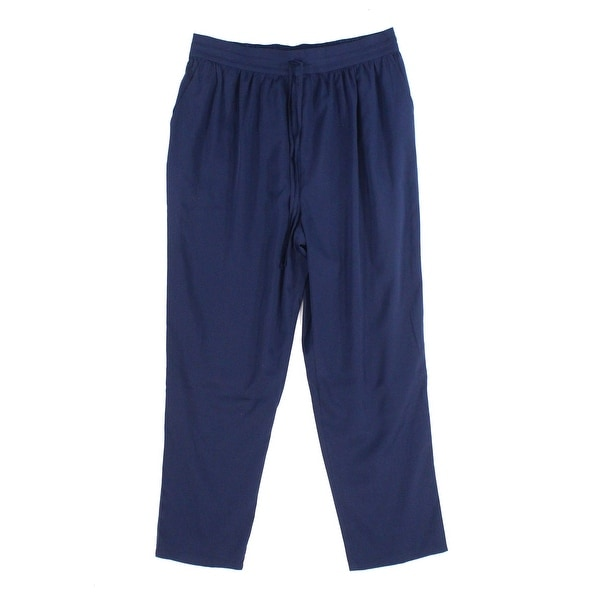 Abound Solid Navy Blue Women's Size XL Pull-On Drawstring Pants