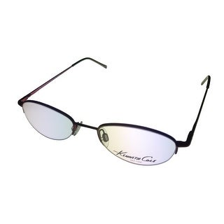 Kenneth Cole Mens Opthalmic Frame Satin Ruby Oval Rimless Metal KC510 764 - Medium