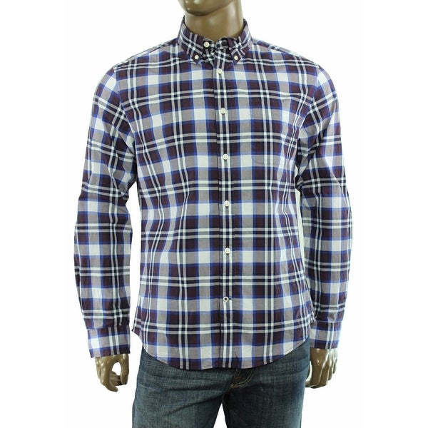 88c41f56 Shop Tommy Hilfiger NEW Blue Mens Size 2XL Amiston Plaid Button Down Shirt  - Free Shipping On Orders Over $45 - Overstock - 19526960