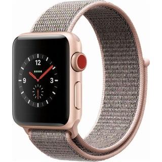 AppleWatch Series 3 38mm Smartwatch (GPS + Cellular, Aluminum Case, Sport Loop)