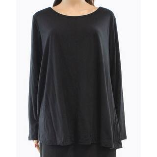 Style & Co. NEW Black Women's 1X Plus Long Sleeve Burnout Tee T-Shirt|https://ak1.ostkcdn.com/images/products/is/images/direct/58858849299d06aa1bd659adf669ef1302c9dfa6/Style-%26-Co.-NEW-Black-Women%27s-1X-Plus-Long-Sleeve-Burnout-Tee-T-Shirt.jpg?impolicy=medium