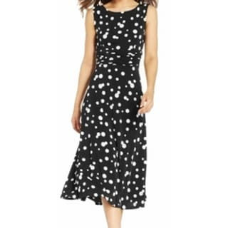 Jessica Howard NEW Black Women's Size 18 Polka Dot Sheath Dress
