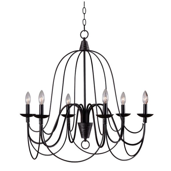 Copper Grove Fraleigh Oil Rubbed Bronze 6-light Chandelier. Opens flyout.