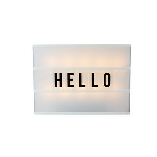 Battery Operated LED Lighted A4 Light Box with Letters and Numbers - Black