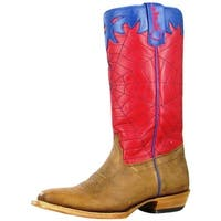 Olathe Western Boots Boys Leather Cowboy Kids Spider Web Toast