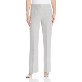 Kasper NEW White Black Pinstripe Seersucker Women's Size 6 Dress Pants
