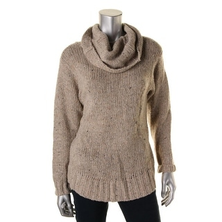 Polo Ralph Lauren Womens Juniors Wool Marled Turtleneck Sweater - L