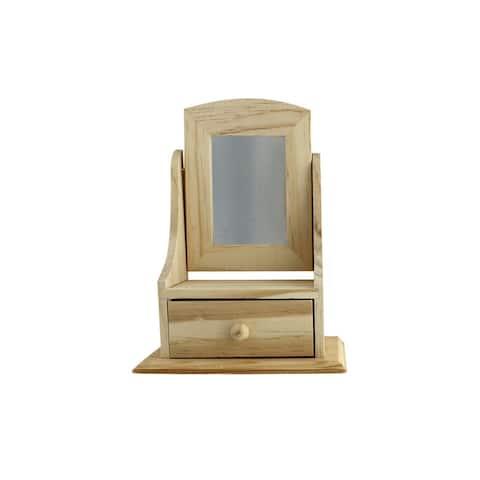 Darice Wood Box W/Drawer Unfin 5.2x7.25x 3.15