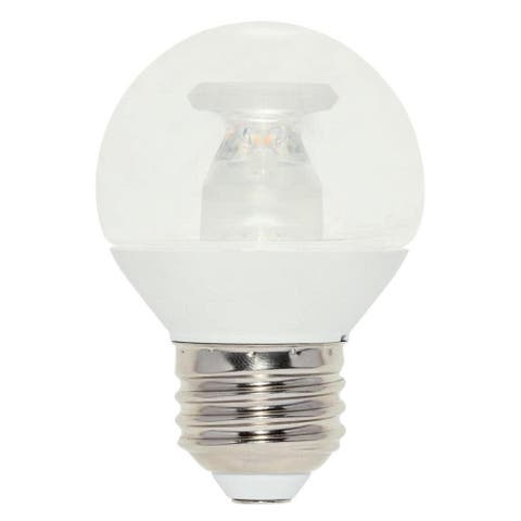 Westinghouse 5312900 Single 7 Watt White Dimmable G16.5 Medium (E26) - Clear