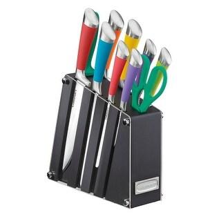 Cuisinart C77SS-11PA 11-Piece Arista II Collection Cutlery Knife Block Set, Multicolor