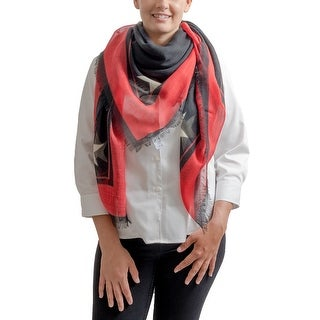 Link to Givenchy GW1414 SD509 10 Red Scarf - 55-55 Similar Items in Scarves & Wraps