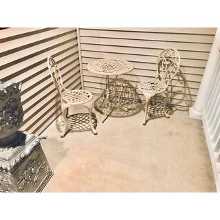 Elegance Beach Sand Cast Metal 3-piece Outdoor Bistro Dining Set