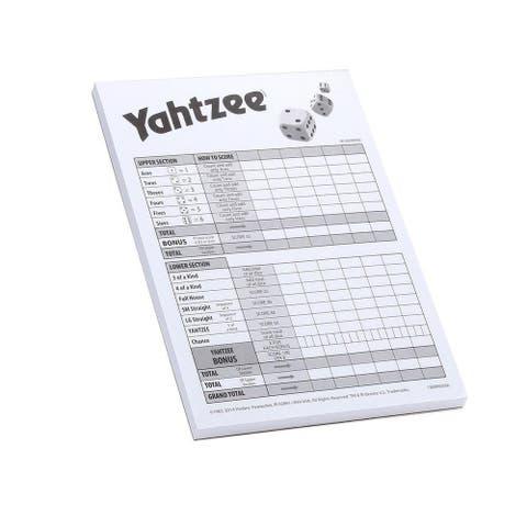 Yahtzee Score Cards