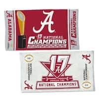 "Alabama Crimson Tide 2017-18 National Champions 22"" x 42"" Locker room towel"