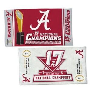 "Alabama Crimson Tide 2017-18 National Champions 22"" x 42"" Locker room towel"