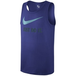 Nike NEW Blue Teal Gray Mens Size XL Just Do It Athletic Knit Tank Top 263