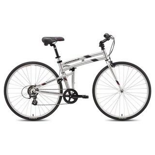 "Montague Crosstown 19"" 700C Silver 7 Speed Folding Hybrid Commuter Bike"