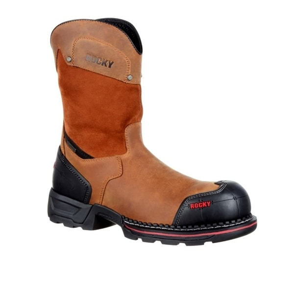 Rocky Work Boots Mens Maxx Composite Leather Crazy Horse
