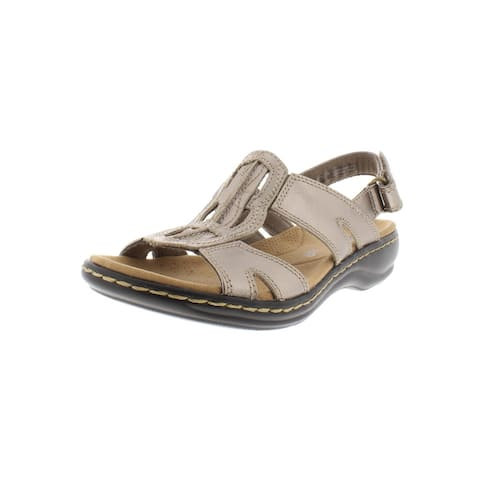 60baaf613624 Clarks Womens Leisa Skip Slingback Sandals Leather Padded Insole