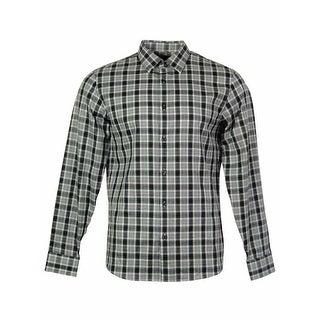 Michael Kors Men's Plaid Stripe Front Buttoned Shirt - Deep Purple
