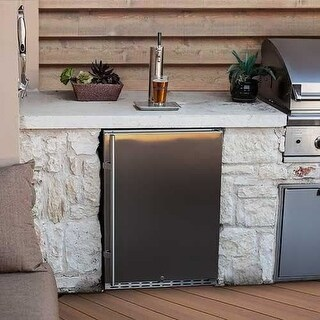 EdgeStar KC7000OD 24 Inch Wide Outdoor Kegerator for Full Size Kegs with Electronic Control Panel