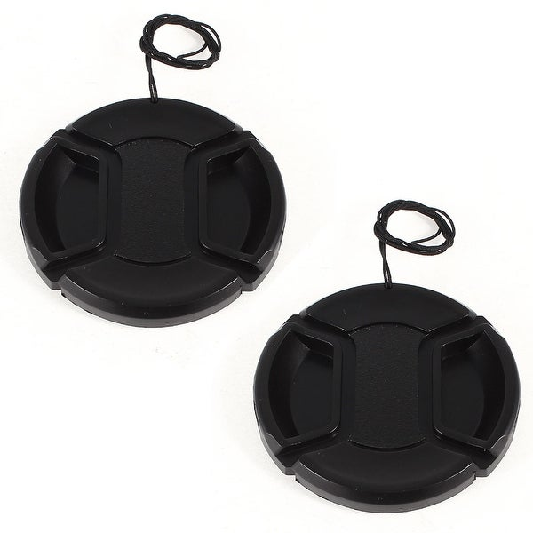 Unique Bargains 2 Pcs 58mm Center Pinch Lens Cap Cover w Strap Leash for DLSR Digital Cameras