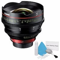 Canon CN-E 14mm T3.1 L F Cinema Prime Lens (EF Mount) (International Model) + Deluxe Cleaning Kit Bundle (AF6CANCNE1431LFB1)