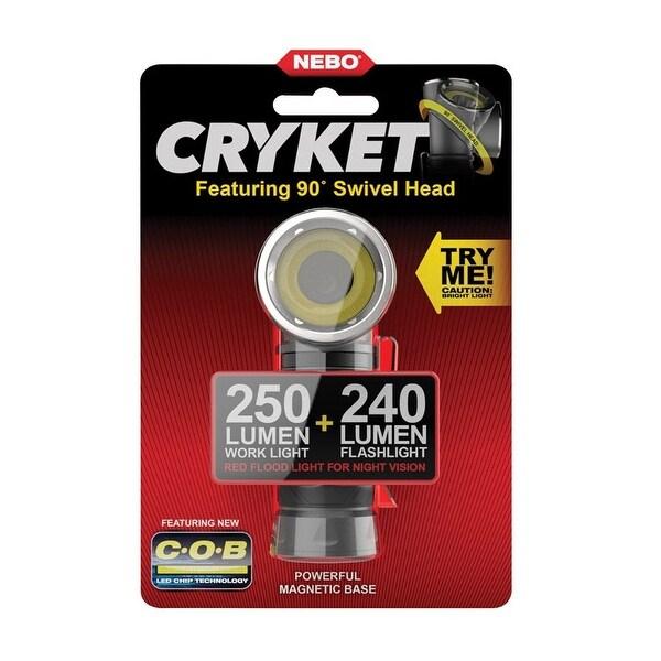 Nebo 6725 Cryket LED Work & Flashlight, Aluminum, Black, 240 Lumens
