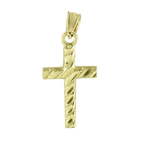 Cross Pendant Jesus Christ Crucifix Real 10K Yellow Gold High end Rapper Hip Hop