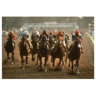"""Horse Race"" Poster Print"