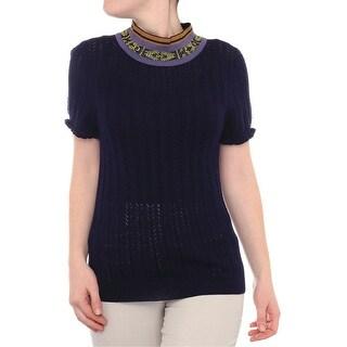 Suno Short Sleeve Mock Neck Sweater Women Regular Sweater