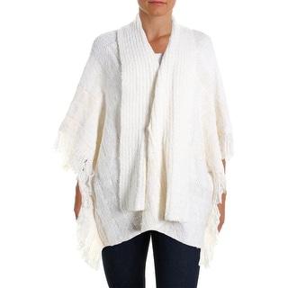 Lauren Ralph Lauren Womens Knit Fring Cape Sweater