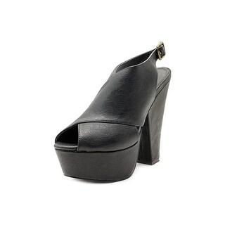 Steve Madden Galleria Women  Open Toe Synthetic Black Platform Heel