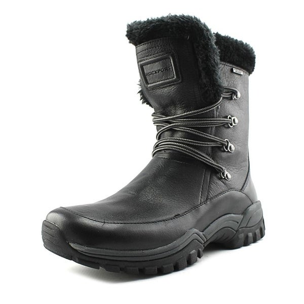 Rockport Finna Mid   Round Toe Leather  Snow Boot