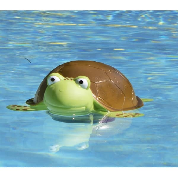 Shop Green and Brown Floating Turtle Swimming Pool Chlorine ...