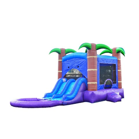 Commercial 13.5' x 26' Bounce House with Water Slide and Air Blower